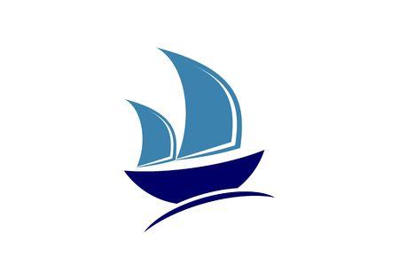Sailing ship, sailing boat, sailboat, sail, ship, clipper logo
