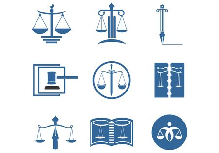 Set of lawyer Legal Law firm Logo design