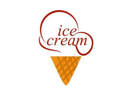 Ice cream, dessert logo vector Logó