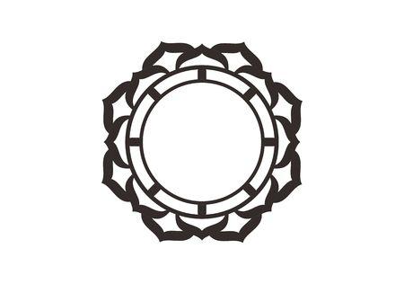 Vector graphic circle frames. Wreaths for design, logo template