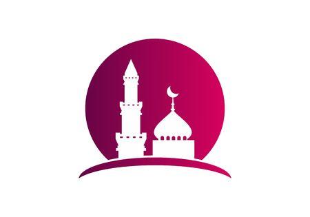 Mosque islamic, ramadhan logo vector