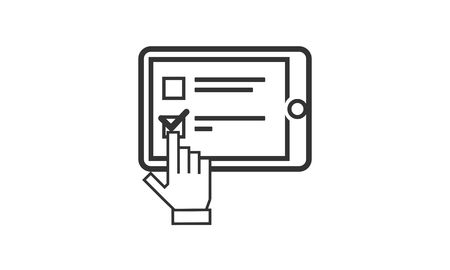 Survey, check list icon logo