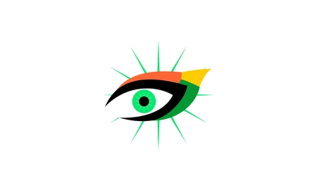 Eye, optic, vision logo vector