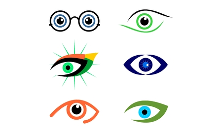 Set of eye, optic, vision logo vector