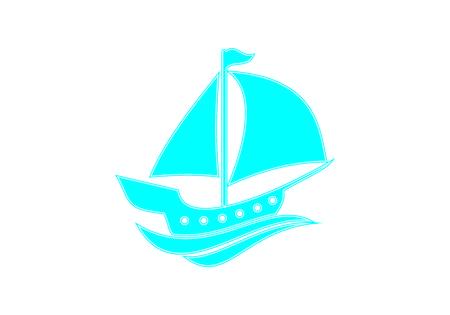Sailing, ship, boat logo vector