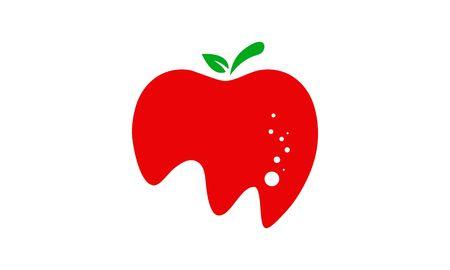Apple fruit fresh logo vector