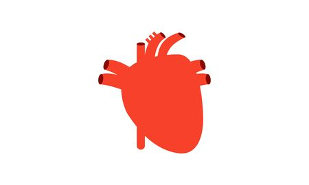 Smiling heart human internal organ logo