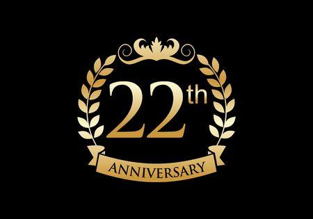 22, celebración de aniversario de lujo