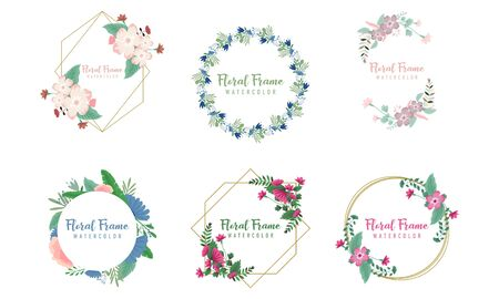 Flower ornament dividers. Hand drawn vines decoration, floral ornamental divider and sketch leaves ornaments logo