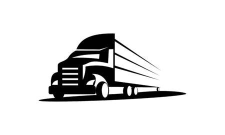 LKW-Logo, Fracht-Logo, Lieferfracht-LKW, Logistik-Logo-Paket