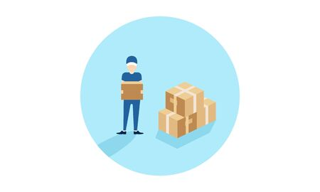 Delivery logo fast shipping, delivery service logo Foto de archivo - 129793326