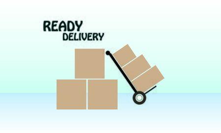 Delivery logo fast shipping, delivery service logo Foto de archivo - 129793331