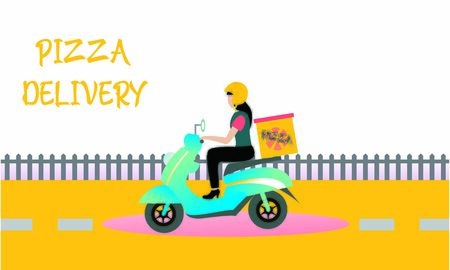 Delivery logo fast shipping, delivery service logo Foto de archivo - 129793336