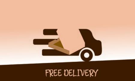 Delivery logo fast shipping, delivery service logo Foto de archivo - 129793338