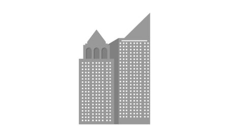 Building construction, real estate and residential logos company Illustration