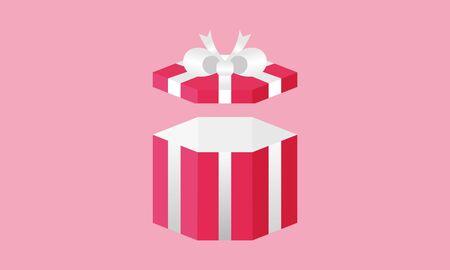 Surprise gift box logo design vector Illustration