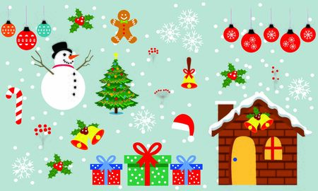 Feliz navidad y vector de regalo de navidad. Ilustración de fondo Ilustración de vector