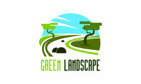 Green nature landscape and gardening company vector