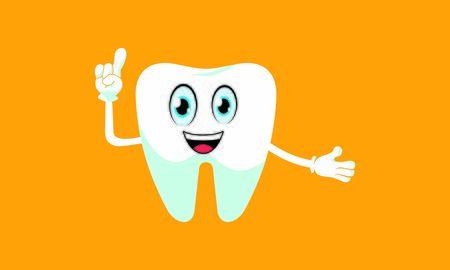 Dental mascot, tooth mascot dental logo design vector Stock Vector - 134853982