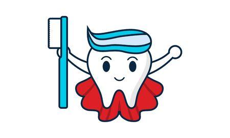 Dental mascot, tooth mascot dental logo design vector Stock Vector - 134853986