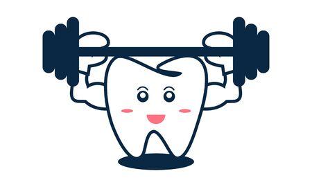 Dental mascot, tooth mascot dental logo design vector Stock Vector - 134853987