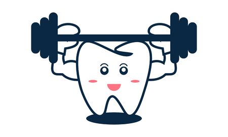Dental mascot, tooth mascot dental logo design vector