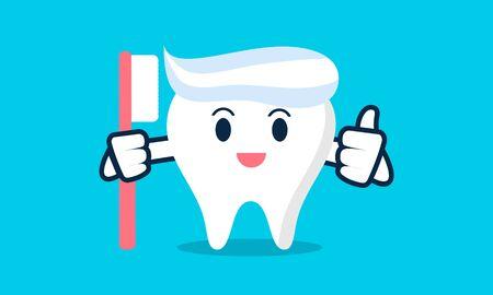 Dental mascot, tooth mascot dental logo design vector Stock Vector - 134853989