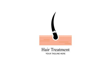 Hair treatment logo vector, hair removal logo Ilustrace