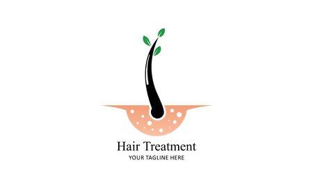 Hair treatment logo vector, hair removal logo Illustration