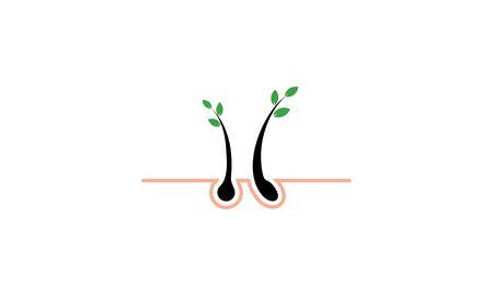 Hair treatment logo vector, hair removal logo 写真素材 - 134854000