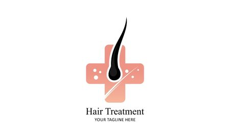 Hair treatment logo vector, hair removal logo  イラスト・ベクター素材
