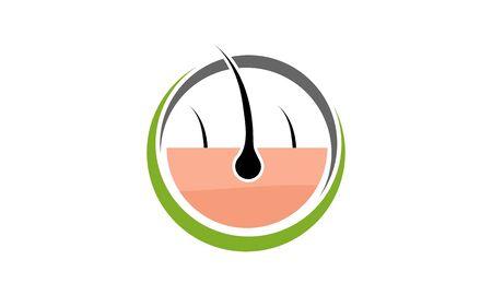 Hair treatment logo vector, hair removal logo Çizim