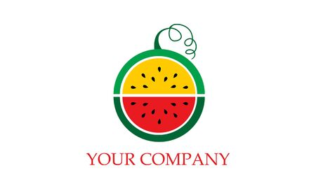 Collection Eco fruit logo vector image illustration