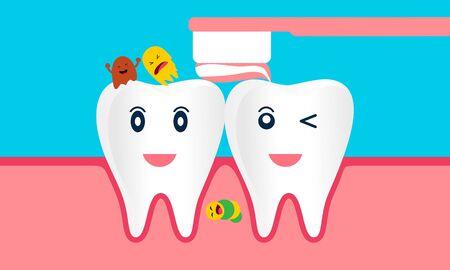 Zahnmaskottchen, Zahnmaskottchen Zahnlogo Design Vektor