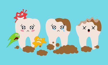Dental mascot, tooth mascot dental logo design vector Logo