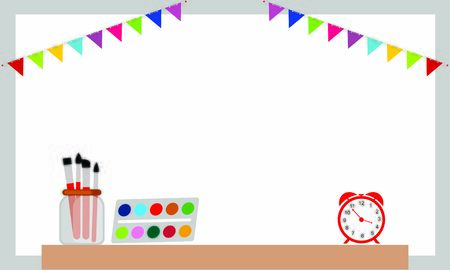Back to school background as blank copy space text area illustration.