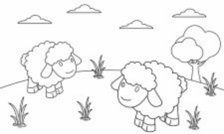Coloring book animals to educate kids. Learn colors pages