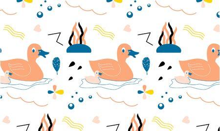 Seamless pattern with farm animal logo illustration Ilustrace
