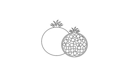 Coloring book fruit to educate kids. Learn colors pages