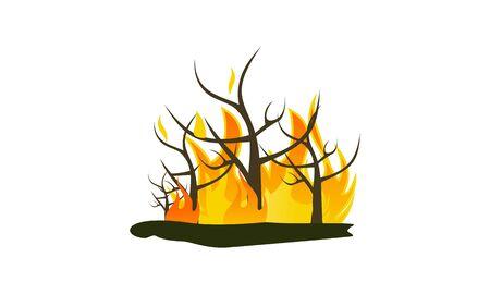Forest fire natural disaster concept vector illustration Vecteurs