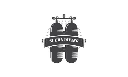 Scuba diving logo branding identity corporate illustration