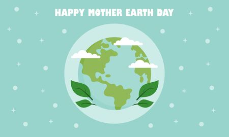 International mother earth day april 22 vector illustration