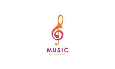 Music industry logo design vector illustration