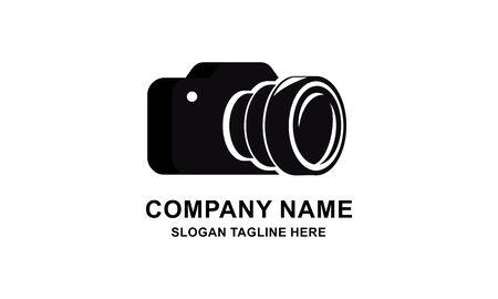 Ilustración de vector de diseño de logotipo de cámara