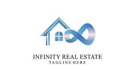 Infinity real estate logo vector design illustration
