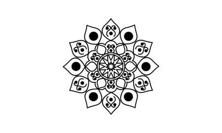 Mandala decorative element illustration. Geometric logo template Фото со стока - 140899193