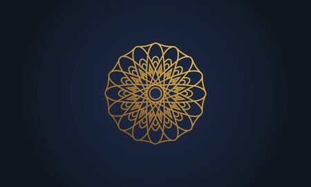 Mandala decorative element illustration. Geometric logo template Фото со стока - 140899198