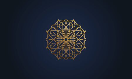 Mandala decorative element illustration. Geometric logo template Фото со стока - 140899216