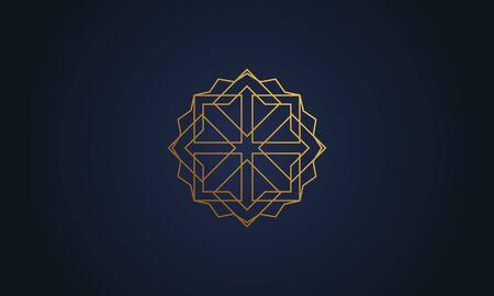 Mandala decorative element illustration. Geometric logo template