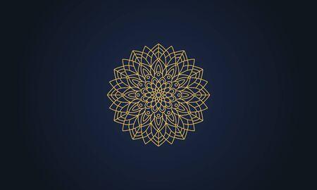 Mandala decorative element illustration. Geometric logo template Фото со стока - 140899205